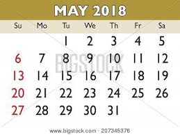 calendar for the month of may may month calendar 2018 english vector photo bigstock