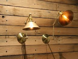 custom made brass wall sconce industrial articulating wall lamp