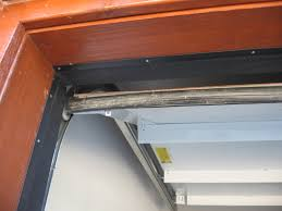 image of black garage door weather stripping