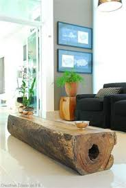 Log coffee table or bench / ottoman. Can't wait until Garret gets our tree  stump coffee table done!