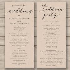 Free Printable Wedding Ceremony Programs Wedding Program Template Printable By Hopestreetprintables