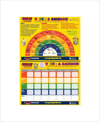 Sample Food Coloring Chart 8 Documents In Pdf