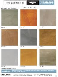 Westcoat Epoxy Color Chart Water Based Stain Sc 35 Color Chart Offered By Westcoat