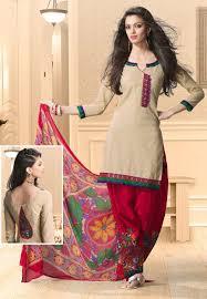 Different Neck Designs For Cotton Salwar Kameez Beige Cotton Salwar Kameez Online Shopping Kff47 Trendy