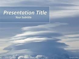 Free Cloudy Sky Powerpoint Template Download Free