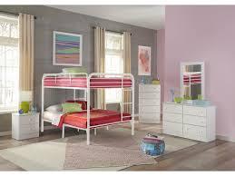 Kith Furniture Bunkbeds White Full-Over-Full Metal Bunkbed KITH-269-FF