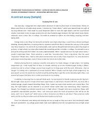 comparison and contrast essay example image slidesharecdn com contrastessayoutlinesample