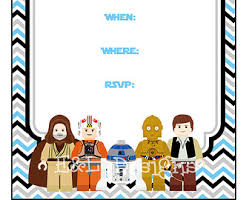 Images Of Lego Star Wars Invitations Free Printable