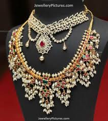 Amazing ideas indian bridal jewellery designs Pakistani Bridal South Indian Jewellery Designs Pearls Elitflat Pearl Necklace Indian Designs Elitflat