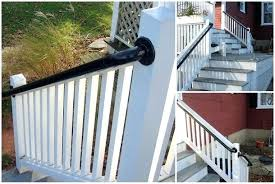 handrails for outdoor steps porch mounted stair railing concrete uk bunnings outside handrails for outdoor steps