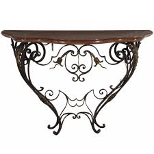 iron console table. Furniture:Wrought Iron Console Tables \u2022 Ideas Table Surprising Top Art Collection Sink Legs In