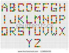 27 Best Block Letters Grid Images Cross Stitch Alphabet