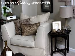 Leopard Print Living Room Decor Chic On A Shoestring Decorating My Living Room Tour