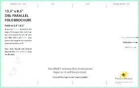 4 Panel Brochure Template 8 Page Brochure Template Word Booklet Imposition Templates