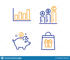 Report Diagram Graph Chart And Saving Money Icons Set