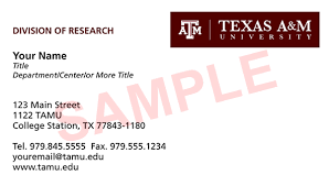 business card example division of research business card example