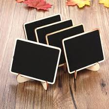 wholesale 10pcs beautiful mini wooden message blackboard chalkboard with stand small black notice board wedding home office decor supplies beautiful home office chalkboard