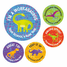 Dinosaur Reward Stickers