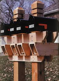 double mailbox designs. Wood Double Mailbox Post Plans Designs