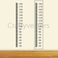 Ruler Growth Chart Vector Template Centimeters