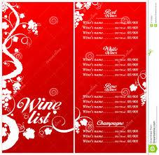 Free Wine List Template Download Wine List Menu Template Stock Vector Illustration Of Light 21726068