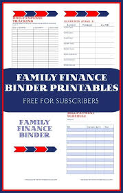 Free Family Finance Binder Printables For Your Family
