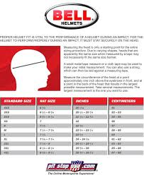 Bell Faction Helmet Size Chart Sizing Chart Bell Auto Racing Helmets