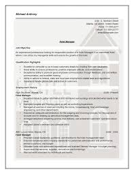 Curriculum Vitae Orion Management Sample Hr Resumes For