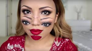 this extremely freaky diy makeup video is perfect for