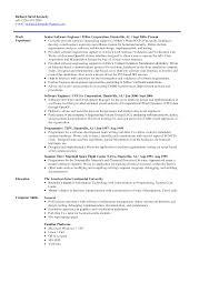 Bioengineering Entry Level Resume Sales Engineering Lewesmr