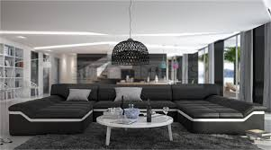 Big Sofa U Form Moderne Wohnlandschaft Barari U Form Sofa