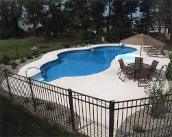 Vinyl Pool with Concrete Patio National Pools and Spas New Jersey