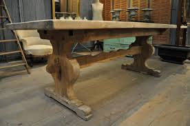 antique french oak dining table and chairs. french vintage oak trestle farm dining table with sculpted bar | antiquaire| 1930 antique and chairs