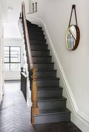 Black Painted Stairs Painted Stairway And Wood Brown Banisters Plus