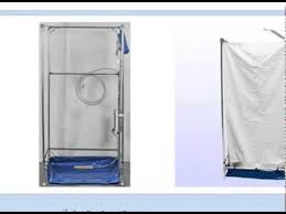 fawssit t4000 tall hazmat portable shower stall for wheelchairs you