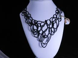 Rubber Design Sf Graff Squiggly Rubber Necklace That Sits Flat By Brazilian