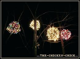 en wire light ball outdoor tree sphere lights lighting outdoors how to make lighted spheres for trees