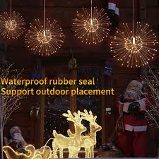 How To Seal Outdoor Christmas Lights Kanstar 2pack Firework Lights Led 8 Modes Dimmable Fairy
