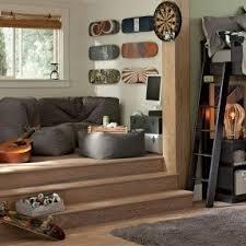 platform beds for living room. love the steps in room! fabulous idea for rec platform beds living room k