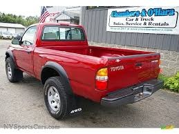 2004 Toyota Tacoma Regular Cab 4x4 in Impulse Red Pearl photo #5 ...