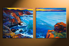 2 piece large canvas, home decor artwork, ocean ocean large pictures, oil  paintings