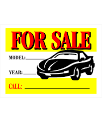 Automobile For Sale Sign Automobile For Sale Vibrant Sign 10 In X 14 In
