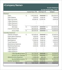 Free Financial Statements Templates Sample Income Statement Template 17 Free Documents In Pdf Word