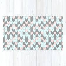 modern c teal gray geometrical zigzag chevron rug
