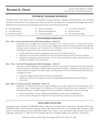 Technical trainer resume example resume examples and trainers