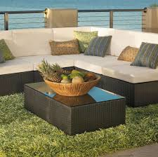 thick green outdoor rug with modern patio furniture set