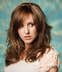 Wavy Hairstyles With Bangs Wavy Layered Hairstyles With Side