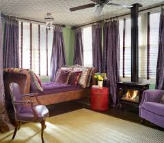 Purple And Green Bedroom Purple And Green Bedroom Eclectic With End Table Square Decorative