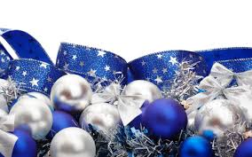 Blue white ribbons Christmas ornaments white background Christmas  decorations wallpaper | 2560x1600 | 192998 | WallpaperUP