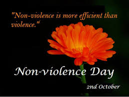 international non violence day essay speech quotes status history  non violence day essay ""